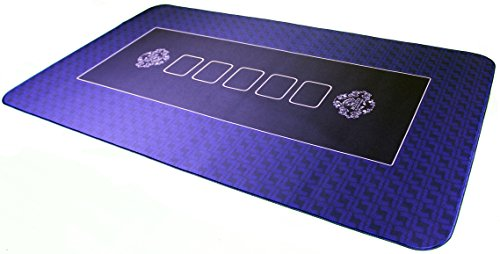Bullets Playing Cards: Poker Table Top 39.5 x 23.5in (100 x 60cm) - Playing Mat - ideal as a gift - BLUE by Bullets Playing Cards