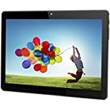 Tablet Android 10 inch Unlocked 3G Phone Tablet PC Dual SIM Card Slots Dual Camera Cell Phone Support 2G 3G WiFi Bluetooth GPS 1GB+16GB MTK6580 1.3GHz Quad-core IPS Screen 800×1280 - Black