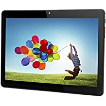 Tablet Android 10 Inch Unlocked 3G Phone Tablet PC with Dual SIM Card Slots Dual Camera Cell Phone Support 2G 3G WiFi Bluetooth GPS 1GB+16GB MTK6580 1.3GHz Quad-core IPS Screen 800×1280 - Black