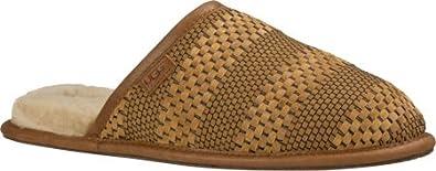 UGG Mens Scuff Weave Chestnut Suede Slipper