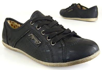 Sportliche Damen Sneaker elegante warme Damen Schuhe schwarz