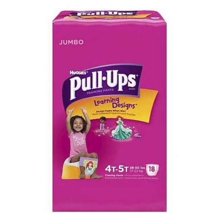 51423104 Toddler Training Pants Pull-Ups Learning Designs Pull On 4T - 5T Disposable Heavy Absorbency