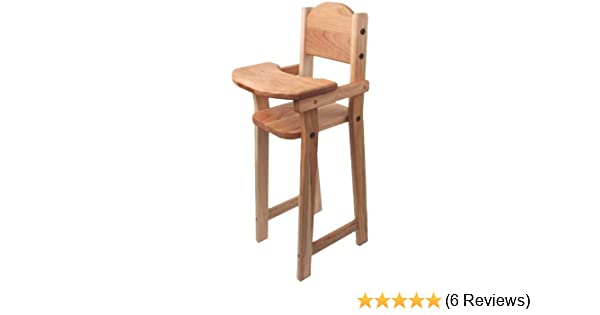 Amazon Com Camden Rose Cherry Wood Doll High Chair Flat Pack 30