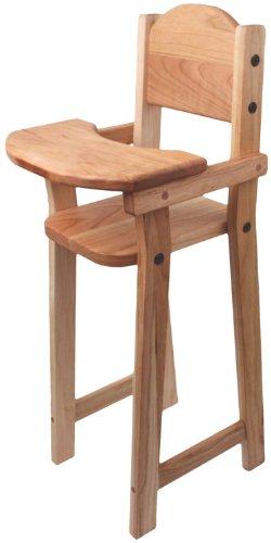 (Camden Rose Cherry Wood Doll High Chair, Flat Pack, 30