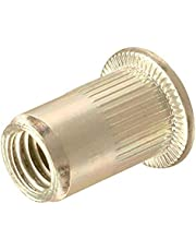 SNUG Fasteners (SNG206) Forty (40) 3/8-16 UNC Rivet Nuts-Zinc Plated Carbon Steel Flat Head Threaded Inserts