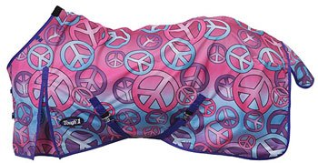Tough-1 600D Turnout Blanket in Prints - Candy Peace