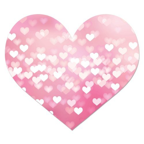 Pink Heart Cute Girly Vinyl Sticker - Car Phone Helmet - SEL