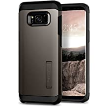 Spigen Tough Armor Galaxy S8 Plus Case with Reinforced Kickstand and Heavy Duty Protection and Air Cushion Technology for Samsung Galaxy S8 Plus (2017) - Gunmetal