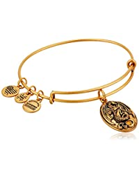 "Alex and Ani ""Path of Symbols"" Dragon Expandable Wire Bangle Charm Bracelet"