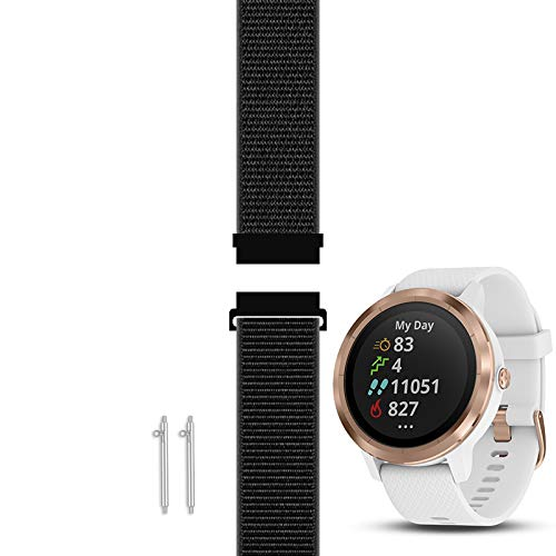 C2D JOY Compatible with Garmin Vivoactive 3 (Music) and Vivomove (HR) Replacement Band with Custom Quick Release Spring Bar, Sport Mesh Strap Nylon Weave Watchband for Sports - 10#, M (6.1-8.5 in.)