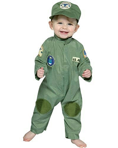 Elf Mascot Jumpsuit Adult Unisex Costumes (Air Force Military Pilot Infant Costume Jumpsuit 6-12 months)
