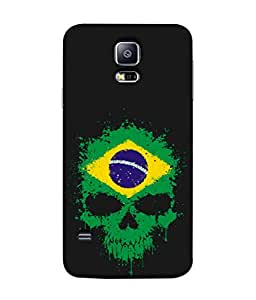 ColorKing Football Brazil 02 Black shell case cover for Samsung S5