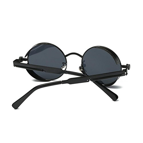 Réfléchissant pour Mme inspiré Steampunk Metal lunettes soleil Style hommes GAOLIXIA lunettes soleil Round Polarized de les Circle Violet rétro de dAqZA4w