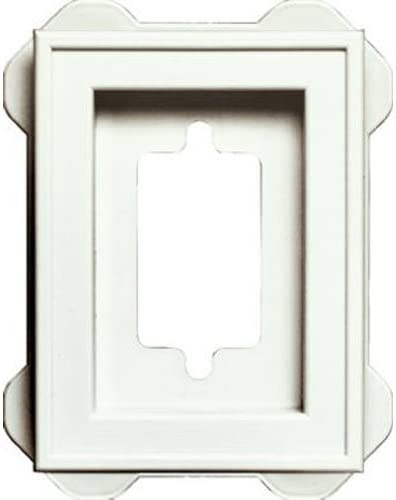 White W X 6-7//10 in H Builders Edge 130110006001 Octagon Mounting Block