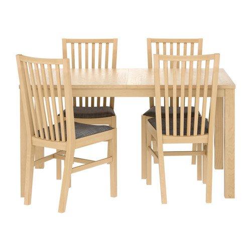 Ikea Table and 4 chairs, birch veneer, Isunda gray 62018.261714.3030