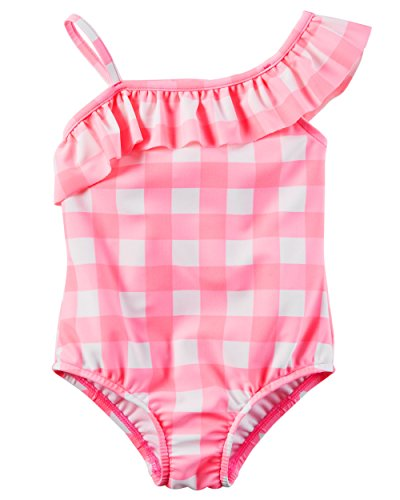 Carter's Toddler Girls' Gingham Swimsuit, (Gingham Sunsuit)