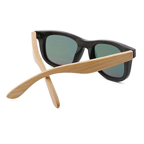 Grano Madera de Lente Color Gafas Madera Madera 2 Efecto Sol TP de de Tonos Brillante de UV400 de de 2 de patrón Espejo Dos 0pnwAZ