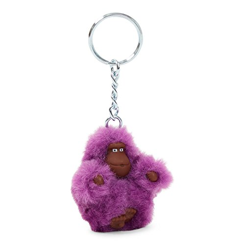 Gorilla Keychain (Kipling Women's Extra Small Monkey Key Fob One Size Purple Garden)