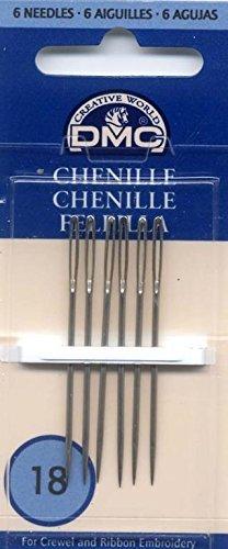 DMC 1768-18 Chenille Hand Needles, 6-Pack, Size 18