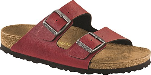 Birkenstock Unisex Arizona Bordeaux Birko-flor Pull Up Sandal