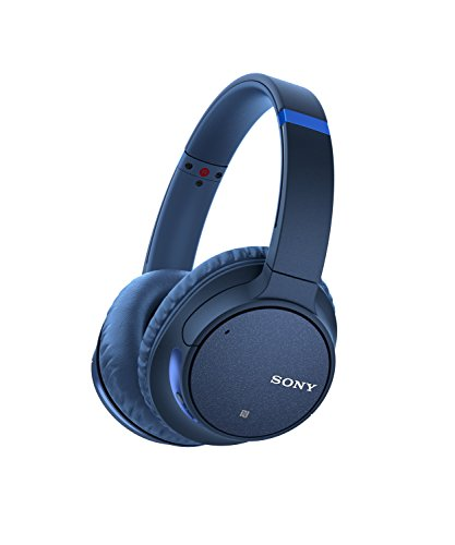 Sony WH-CH700N Wireless Bluetooth Noise Canceling Over the Ear Headphones with Alexa Voice Control - Blue