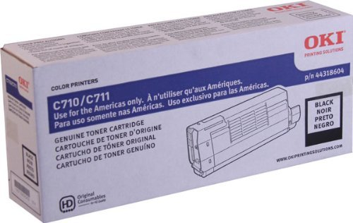 NEW Oki OEM Toner 44318604 (BLACK) (1 Cartridge) (Color Laser Supplies) by OKI Data