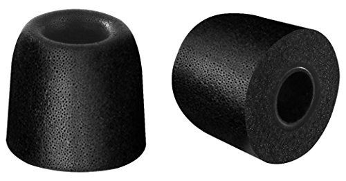 SIMOLIO Headset Replacement Ear Tips, Noise Isolation Memory Foam Earbuds (Black, 5 Pairs, Small Size)