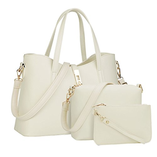 Sets Bag Purse Shoulder White 3 Tote Bags Wallet Women Handbag vgdZfq