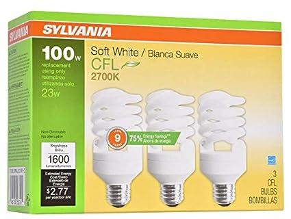 Amazon.com: Sylvania 26354 CFL Light Bulb Soft White 6 Ounces: Health & Personal Care