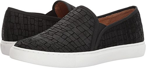 Opportunity Shoes - Corso Como Women's Skipper Sneaker, Black Textured Leather, 6 Medium US