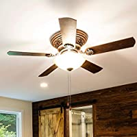 Walnut Wooden Pull Chains with 3mm Diameter Beaded Ball 6 Pack Fan Pull Chain Set 13.8 Inches Ceiling Fan Pulls with Connector