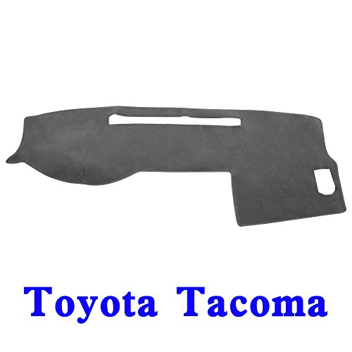 (JIAKANUO Auto Car Dashboard Dash Board Cover Mat Fit for Toyota Tacoma 2005-2015(Tacoma 05-15, Gray MR-035))