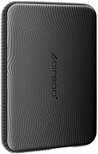 Cirago 320GB Slim External Portable Hard Drive, Drop Shock HDD- USB 3.0 for PC, Mac, Desktop, Laptop, MacBook, Chromebook, Xbox One, Xbox 360, PS4 (Black)