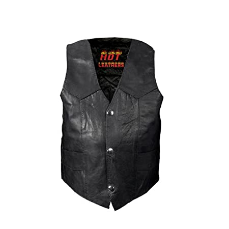 Hot Leathers Youth Classic Biker Vest Black, X-Large