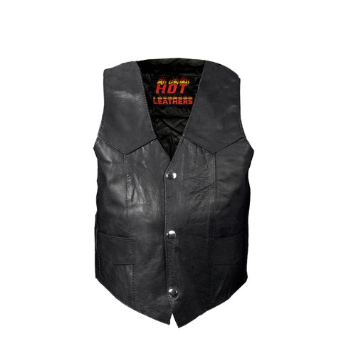 Hot Leathers Youth Classic Biker Vest (Black, Medium)
