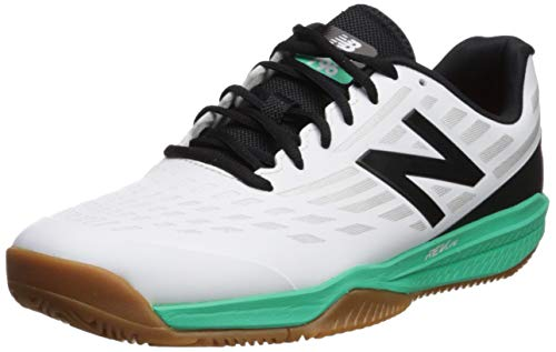 New Balance Men's 796v1 Hard Court Tennis Shoe, White/neon Emerald, 14 D US