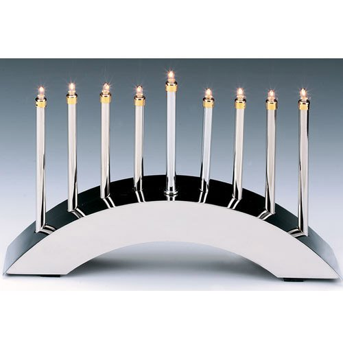 Menorah - Silver Arch Low Voltage Electric Menorah: The