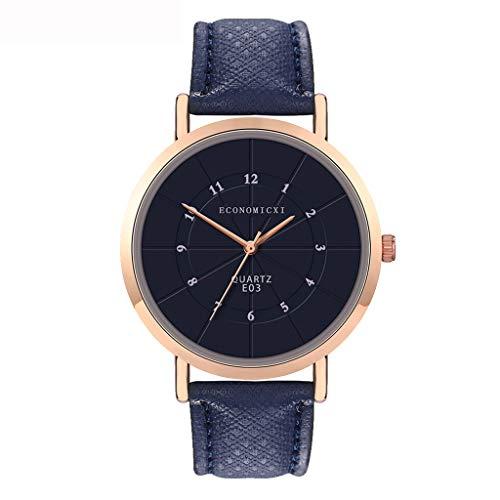 (WoCoo Women's Analog Quartz Watch with relojes de hombre Leather Mesh Strap Girls'Generation Ladies Fashion nova Wristwatch (Dark Blue))