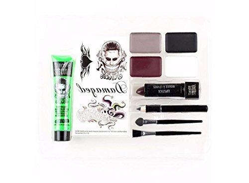 [Men's DC Comics Movie Suicide Squad Jared Leto The Joker Makeup Cosmetic Kit] (Joker Makeup Kit)