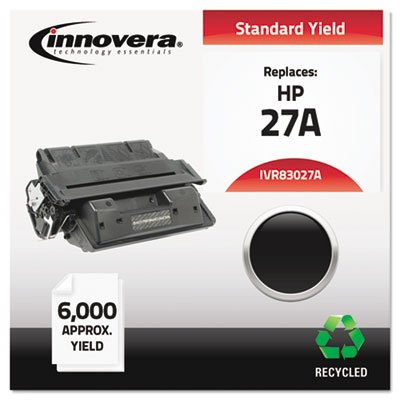 - 83027A Compatible, Remanufactured, C4127A (27A) Laser Toner, 6000 Yield, Black