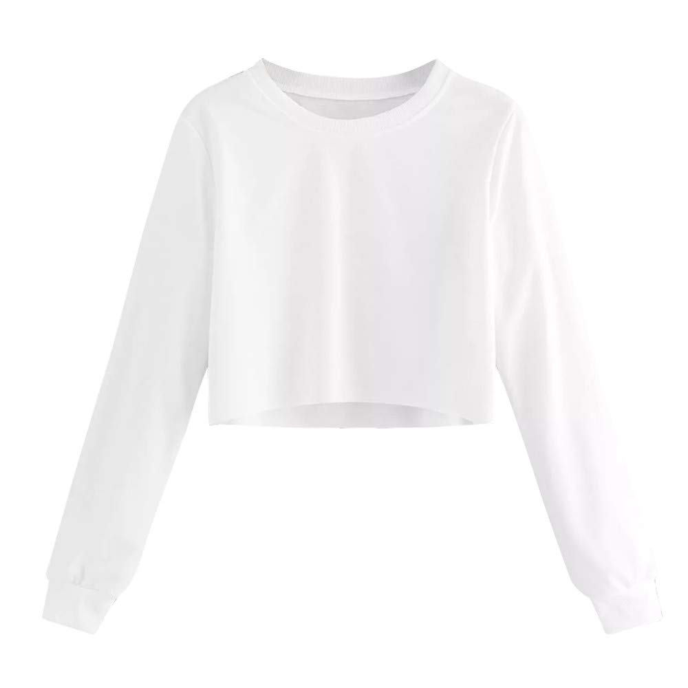 Long Sleeve T Shirt for Women THENLIAN O Neck Solid Sweatshirt Pullover Tops Fall Blouse