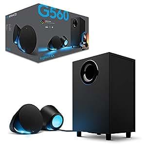 Logitech Lightsync PC Gaming Speakers G560, Black