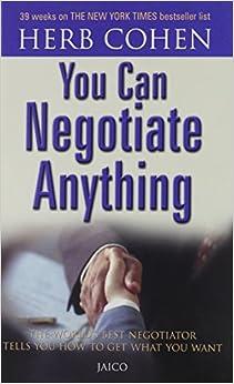 You Can Negotiate Anything (English) price comparison at Flipkart, Amazon, Crossword, Uread, Bookadda, Landmark, Homeshop18