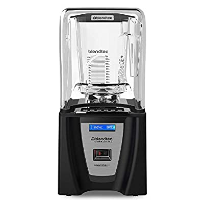 Blendtec Connoisseur 825 Blender - WildSide+ Jar (90 oz) - Professional Blender for Shakes and Smoothies - Sealed Sound Enclosure - Industrial Strength - Quiet - Professional-Grade Power- 30 Pre-programmed Cycles - Self-Cleaning - Black