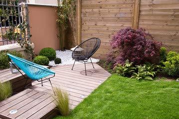 adrium Canvas image 140 x 90 cm: Terrasse et jardin moderne ...
