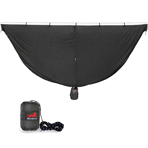 Hammock Bug Net Kind Hammocks, Polyester Mosquitos Net Supply 360 Degree Protection for inspect,No-See-Ums,Bug,Portable and Lightweight for Camping,Hiking,Backing,Fast Easy to Set Up