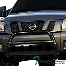 Topline Autopart Black Bull Bar Brush Push Front Bumper Grill Grille Guard With Skid Plate For 08-11 / 12 Ford Escape ; Mazda Tribute ; Mercury Mariner ; 06-10 Mercury Mountaineer
