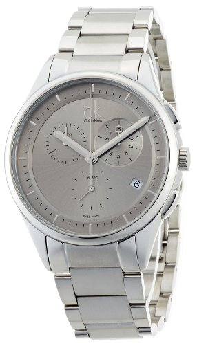 Calvin Klein Men's 'Basic' Swiss Quartz Stainless Steel Casual Watch, Color:Silver-Toned (Model: K2A27126)
