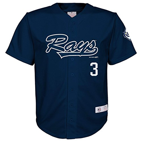 - Evan Longoria Tampa Bay Rays #3 Navy Youth Player Fashion Jersey (X-Small 4/5)