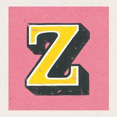 Amazon.com: Letter Z Monogram Metal Sign, Alphabet, Home and Kids ...